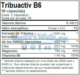 Tribuactive B6 (90 cap) - Nutriweb