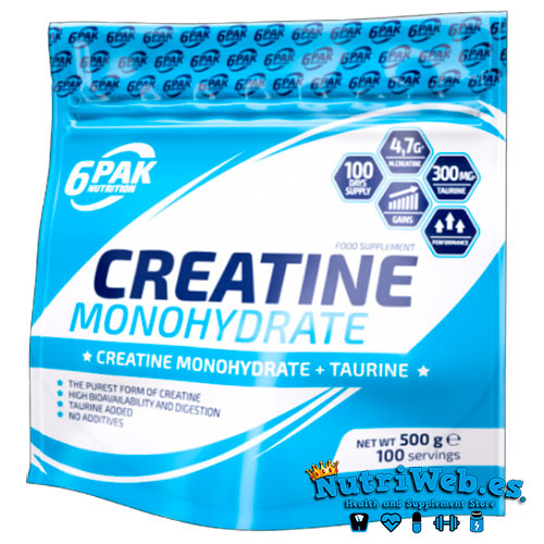 6PAK Creatina Monohidrato – Neutra (500 gr)