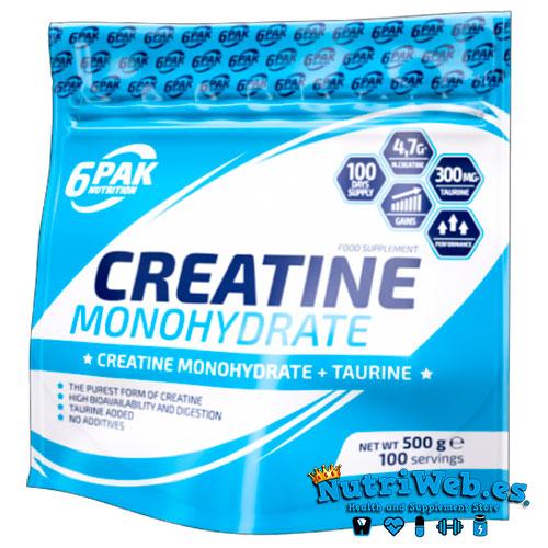 6PAK Creatina Monohidrato - Neutra (500 gr) - Nutriweb