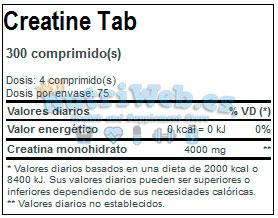 Creatine Tabs (300 tab) - Nutriweb