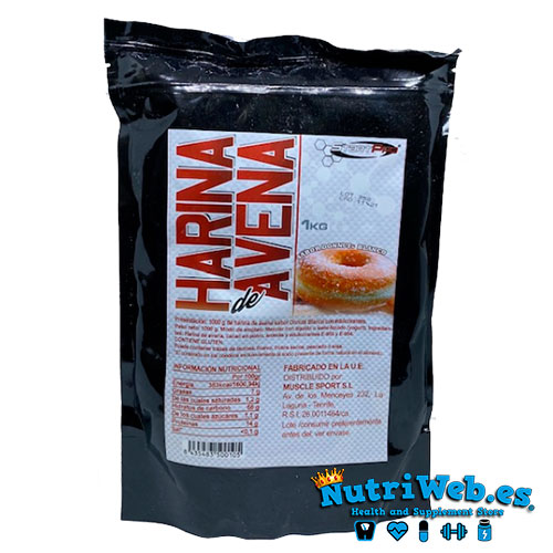 Harina de avena (1000 gr) - Nutriweb
