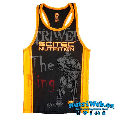 Camiseta de tirantes Tank negra y naranja - Nutriweb