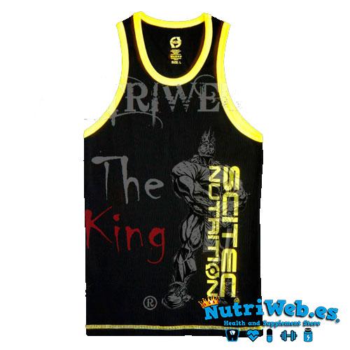 Camiseta de tirantes Tank negra y amarilla - Nutriweb