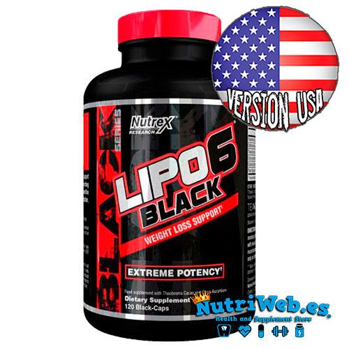 Lipo 6 Black - Versión USA (120 cap) - Nutriweb