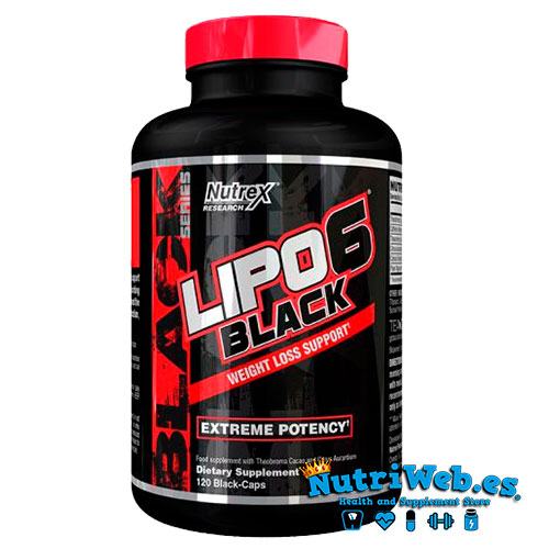 Lipo 6 Black (120 cap) - Nutriweb