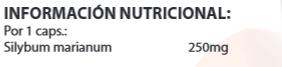 Xtreme nutrition, Cardo mariano (100 tabs), Informacion nutricional