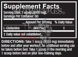 Nutrex research, Glutamine Drive Black (1000 gr), Informacion nutricional
