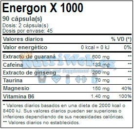 Energon X 1000 (90 cap.) - Nutriweb