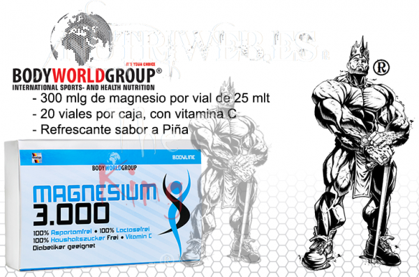 Body Wold Group, Magnesium 3000 (1 vial por 25 ml)