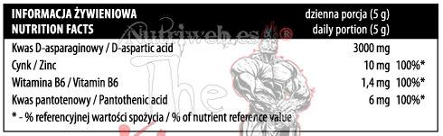 Activlab Sport, DAA Instant (240 gr), Informacion nutricional