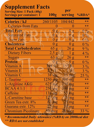 Fit&shape, Max pro energy gel (40 gr)