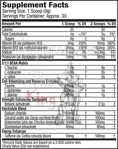 Mucletech, Amino Buld Next Gen Energized - Uva (280 gr), Informacion nutricional