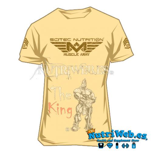 Camiseta Muscle Army beige claro de Scitec nutrition - S - Nutriweb