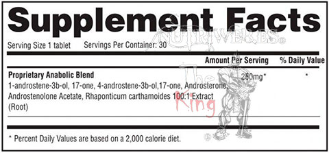 Gaspari nutrition, Halodrol (30 cap), Informacion nutricional