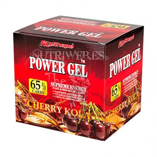 Fit&shape, Power Gel - Cereza cola (24 x 40 gr)