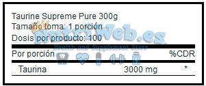 Taurine+ (240 gr) - Nutriweb