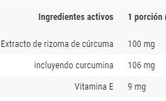 OstroVit, Curcuma (60 tabs), Informacion nutricional