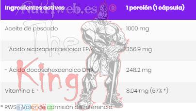 OstroVit, Omega 3 Ultra (90 grajeas), Informacion nutricional