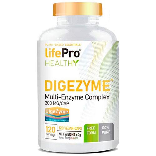 LifePro DigeZyme® 200 mlg (120 cap) - Nutriweb