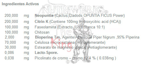 Muscle Force, 100% Carbo-Fat Block (90 cap), Informacion nutricional