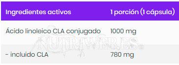OstroVit, CLA 1000 (180 grajeas), Informacion nutricional