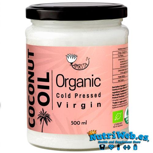 Aceite de coco virgen extra organico (450 ml) - Nutriweb