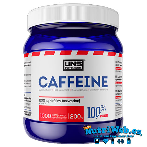 Cafeina anhidra en polvo (200 gr) - Nutriweb