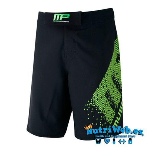Pantalón corto de entrenamiento Woven short pixel black lime green - Nutriweb