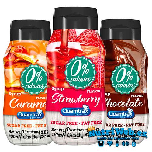Siropes bajos en calorías de Quamtrax Nutrition (330 ml) - Nutriweb