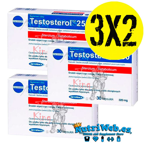 Testosterol 250 (3 uni x 30 cap) - Nutriweb