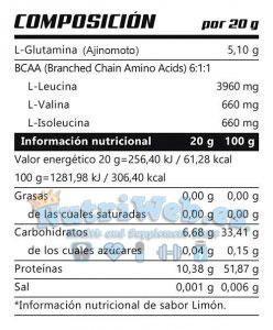 NEO L-Glutamina + Bcaa 6:1:1 (600 gr) - Nutriweb