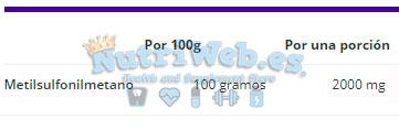 MSM (90 tabs) - Nutriweb