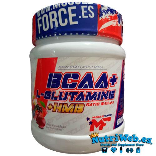 Bcaa + Glutamina + HMB (500 gr) - Nutriweb