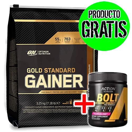 Gold Standard Gainers (3250 gr) +Bolt (232 gr) - Nutriweb
