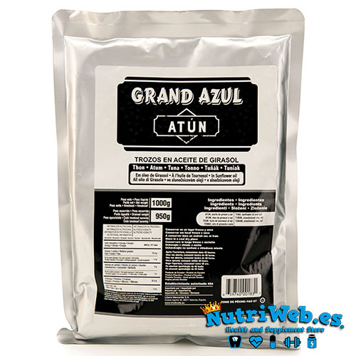 Atun en aceite de girasol (1000 gr) - Nutriweb