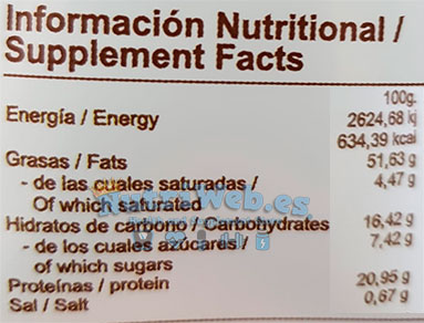 Mantequilla de cacahuete - Galleta maria (350 gr) - Nutriweb