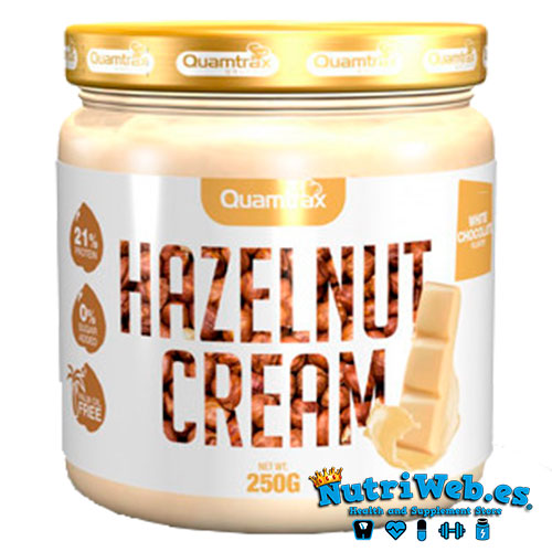 Hazelnut cream - Chocolate blanco (250 gr) - Nutriweb