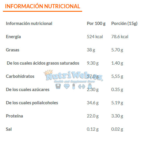 Choco protein - Chocolate blanco (250 gr) - Nutriweb
