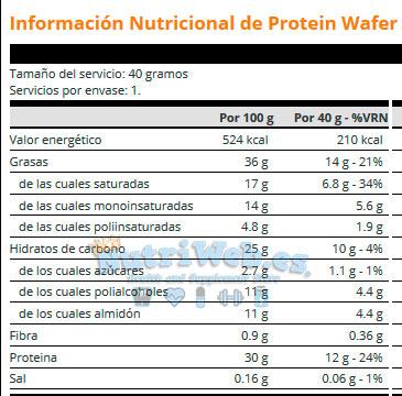 Protein Wafer (12 uni x 40 gr) - Nutriweb