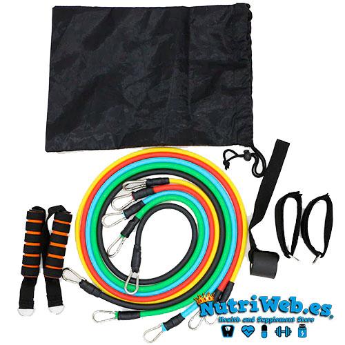 Pack de gomas elasticas de entrenamiento - Nutriweb