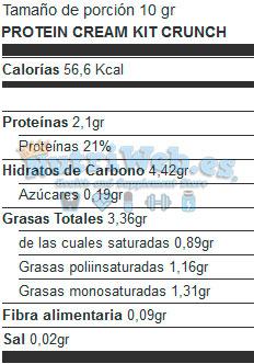 Crema de avellanas Protein Cream Kit-Crunch Cookie (250 gr) - Nutriweb