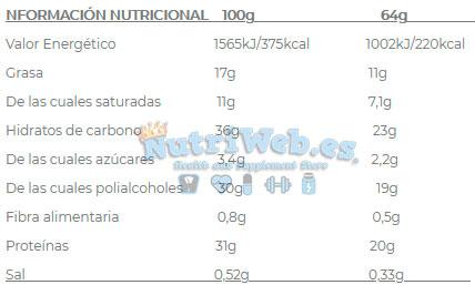 Barritas proteicas Oh! My Bar de Quamtrax Nutrition (12 uni x 64 gr) - Nutriweb