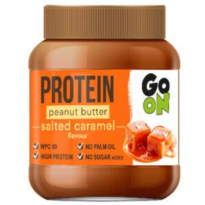 Mantequilla de cacahuete proteica con caramelo salado de GO ON (350 gr)