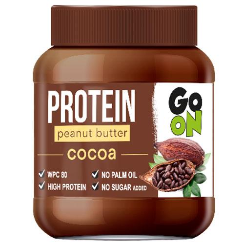 Mantequilla de cacahuete proteica con chocolate de GO ON
