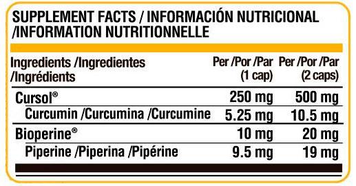Turmeric Curcumin de Life Pro (60 caps) - Nutriweb