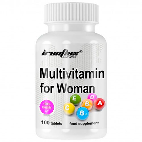 IronFlex Multivitamin for Women (100 tabs) - Nutriweb